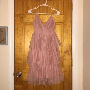Princess Blush Tea Length Dress